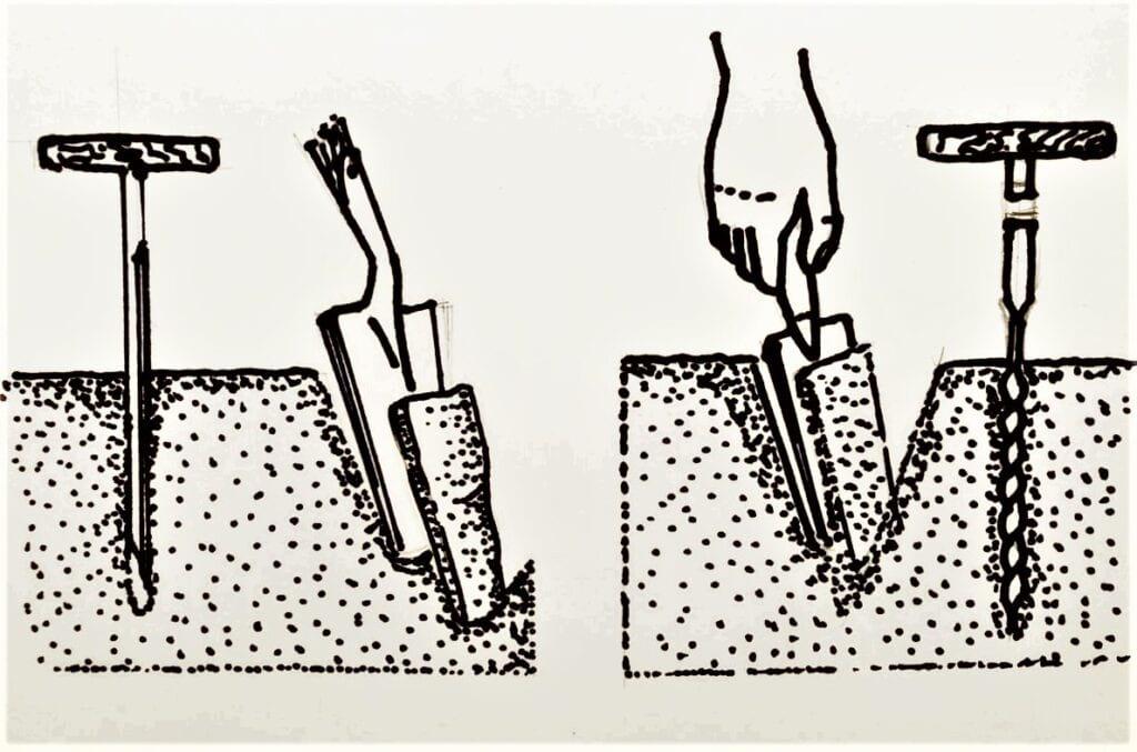 Pobieranie próbki gleby